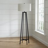 Crate & Barrel Castillo Black Floor Lamp