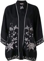 Gold Hawk floral embroidered kimono