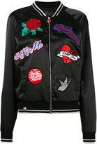 Philipp Plein embroidered bomber jacket - women - Polyester/Spandex/Elastane - S