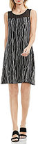 Vince Camuto Electric Lines Printed Dress