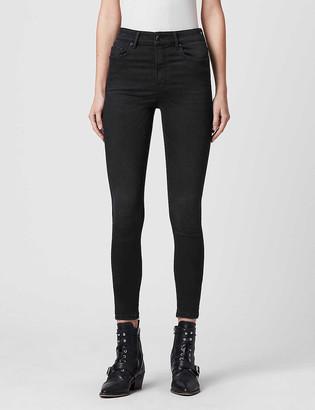 AllSaints Dax mid-rise skinny stretch-denim jeans