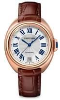 Cartier Clé de 18K Pink Gold & Alligator Strap Watch