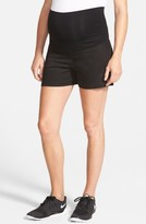 Olian Women's Twill Maternity Shorts