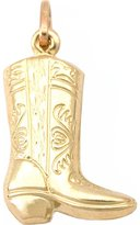 FindingKing 14k Gold Cowboy Boot Charm Western Cowgirl Jewelry