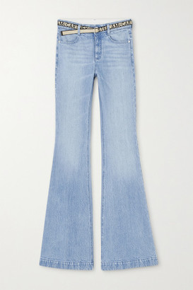 Stella McCartney Salt & Pepper Belted Mid-rise Flared Jeans - Light denim
