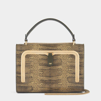 Anya Hindmarch Snake-Print Small Postbox Bag