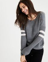 American Eagle Outfitters AE Double-Striped Varsity Sweater