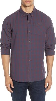 Travis Mathew TravisMathew Tightrope Regular Fit Check Button-Down Shirt