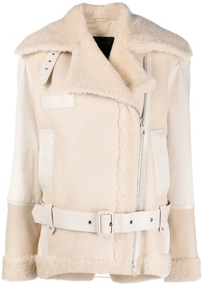 Mr & Mrs Italy Shearling Biker Jacket