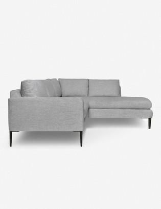 Lulu & Georgia Allisen Right-Facing Bumper Sectional Sofa, Light Gray