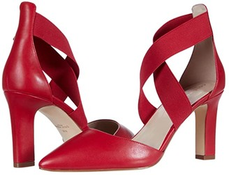 Cole Haan Maikki Elastic Pump 75 mm (Tango Red Leather/Gore) Women's Shoes