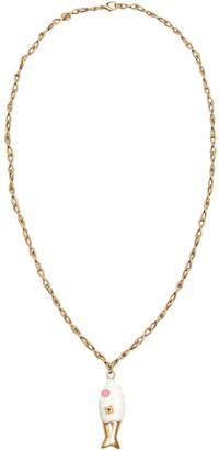Marni Fish Pendant Chain Necklace