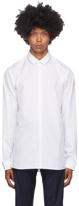 HUGO BOSS White Evidio Extra-Slim Long Sleeve Shirt