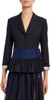 Chloé Stretch Wool Peplum Jacket
