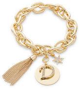RJ Graziano D Initial Chain-Link Charm Bracelet