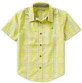 Calvin Klein Big Boys 8-20 Future Plaid Woven Short-Sleeve Shirt