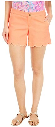 Lilly Pulitzer Buttercup Stretch Shorts (Tangelo) Women's Shorts