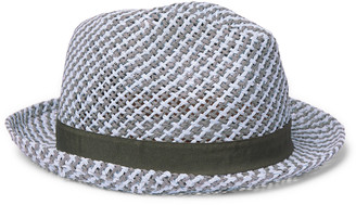 Paul Smith Webbing-Trimmed Woven Straw Trilby