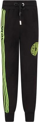 GCDS Black Sweatpants For Boy With Logo