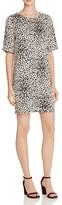 Suncoo Caleb Leopard Print Shift Dress