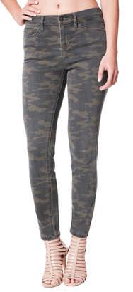 Nicole Miller High-Rise Camo-Print Skinny Jeans