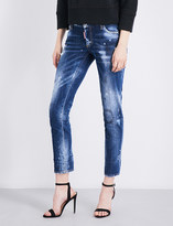 DSQUARED2 Jennifer distressed skinny cropped low-rise jeans