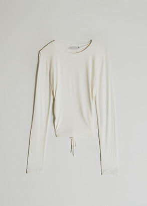 Which We Want Women's Long Sleeve Olivia Top in White, Size Medium | Spandex