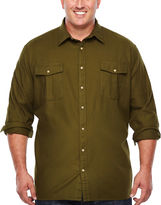 THE FOUNDRY SUPPLY CO. The Foundry Big & Tall Supply Co. Long Sleeve Button-Front Shirt-Big and Tall