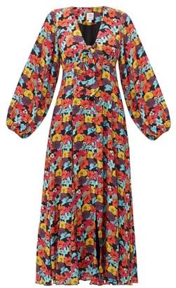 Gül Hürgel Floral-print Crepe Maxi Dress - Womens - Multi