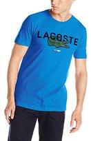 Lacoste Men's Short Sleeve Regular Fit Croc Graphic Tee Shirt