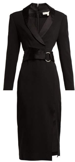 Jonathan Simkhai Tuxedo Style Crepe Dress - Womens - Black