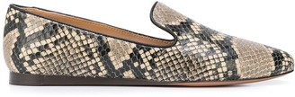 Veronica Beard Snakeskin Effect Loafers
