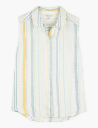 Lucky Brand Sleeveless Striped Sadie Shirt