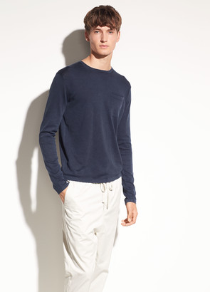 Vince Single Pocket Cotton Crew
