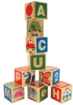 Melissa & Doug Kids' ABC/123 Wooden Blocks
