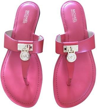 Michael Kors Orange Leather Sandals