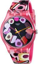 Swatch Women's Originals SUOP102 Multi Rubber Swiss Quartz Watch