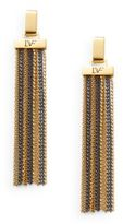 Diane von Furstenberg All The Glitz Chain Tassel Drop Earrings