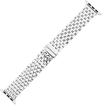 Michele 38/40 mm Bracelet For Apple Watch (Silver) Watches