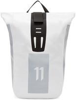 11 By Boris Bidjan Saberi White Roll-top Velocity Backpack