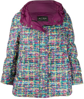 Etro Abstract-Print Puffer Jacket