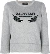 DSQUARED2 24-7 Star sweatshirt - women - Polyurethane/Viscose - XS