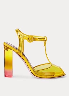 Ralph Lauren Katy Dip-Dye T-Strap Sandal