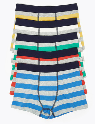 Marks and Spencer 5 Pack Bright Striped Trunks (2-16 Yrs)
