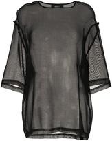 Yang Li sheer panel blouse