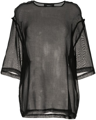 Yang Li Sheer Panel Blouse