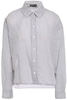 James Perse Striped Cotton-blend Shirt