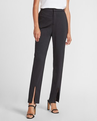 Express Ladygang High Waisted Slit Front Ankle Pant