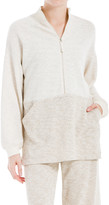 Max Studio Zip-Front Pullover