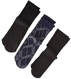Relativity Argyle Trouser Socks 3-Pack